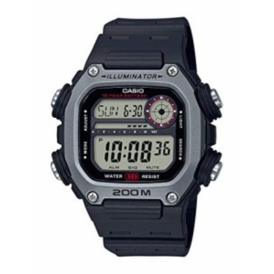腕時計 カシオ レディース Casio 10 Year Battery Quartz Watch with Resin Strap, Black, 27.2 (Model: D