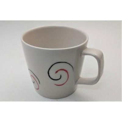 マグカップ 「赤黒渦マグカップ」 うつわの翔山