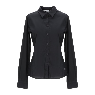 BLUEFEEL by FRACOMINA シャツ ブラック XS コットン 82% / ナイロン 15% / ポリウレタン 3% シャツ