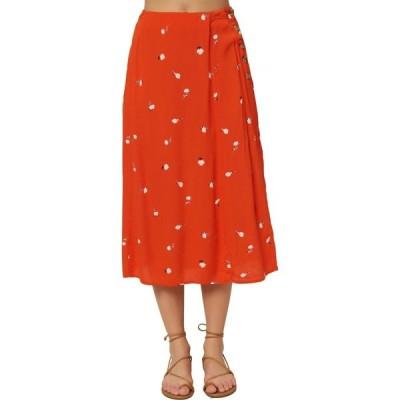オニール O'NEILL レディース ひざ丈スカート スカート Familia Floral Midi Skirt Red Clay