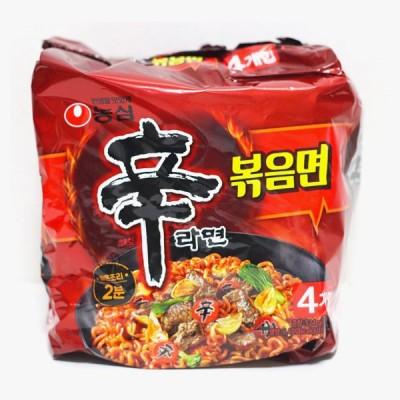 [農心] 辛ラーメン炒め麺 ポックンミョン / 131gx4個入りパック 韓国ラーメン ノンシム