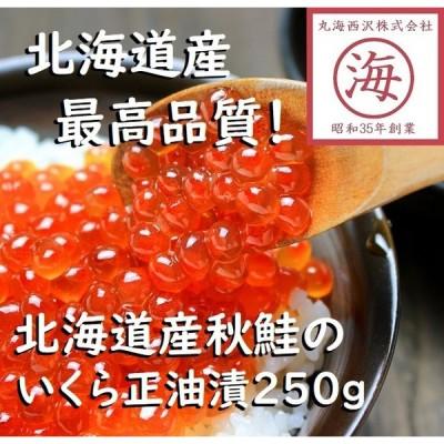 【まるで赤い宝石!】北海道産秋鮭いくら正油漬 250g