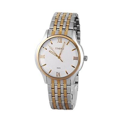 Time100 男性用 腕時計 ファッション ビジネス シンプル ステンレスバンド ローマ数字 クオーツムーブメント ウオッチ #W8006