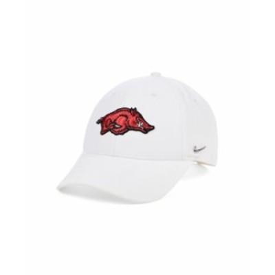 ナイキ メンズ 帽子 アクセサリー Arkansas Razorbacks Ingot Legacy 91 Adjustable Cap White