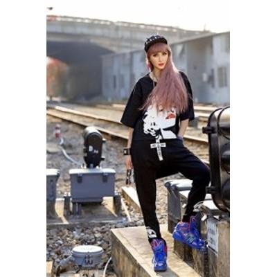 ダンサー・ストリート系!インパクトありのモンロープリントデザイントップス/Tシャツ /DANCE/DA-T/T-LA
