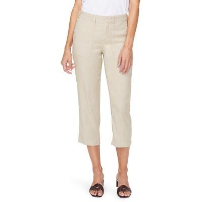 エヌワイディージェイ カジュアルパンツ ボトムス レディース Utility Crop Linen Blend Pants Feather