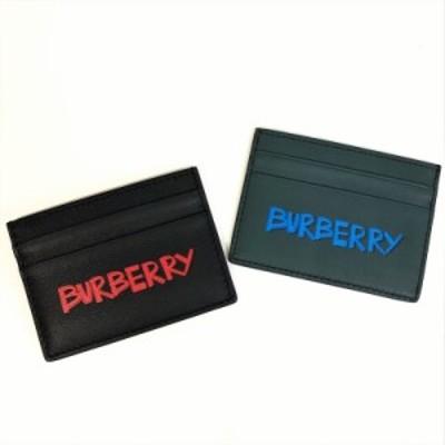 国内送料無料!!BURBERRY バーバリー メンズ カードケース 40740641 黒 40771601 緑 ロゴ  メンズ セール SALE 特価 お買い得