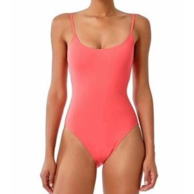 スポーツ用品 スイミング Studio Anne Cole NEW Pink Coral Womens Size 6 One-Piece Solid Swimwear #581