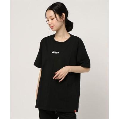 tシャツ Tシャツ 【72】【UNIVERSAL OVERALL(ユニバーサルオーバーオール)】WORK LOGO TEE