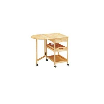 ワゴン 木製テーブル付きワゴン KW-415NA W850(425)×D600×H700mm