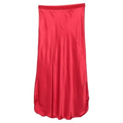 MES DEMOISELLES 7分丈スカート レッド 40 シルク 100% 7分丈スカート