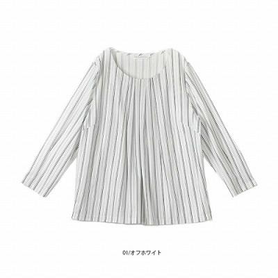 抗菌加工タックカットソー【LL―5L】(フルールバイミントブリーズ/fleur by mint breeze)