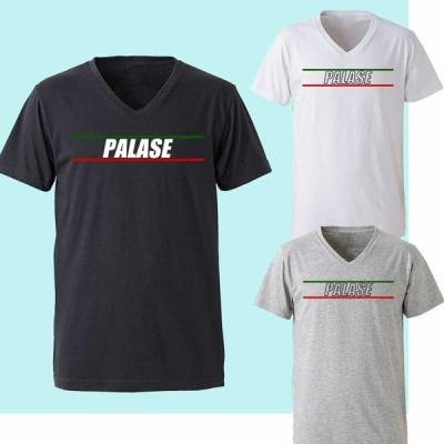 メンズ Tシャツ パロディ Vネック PALASE ライン