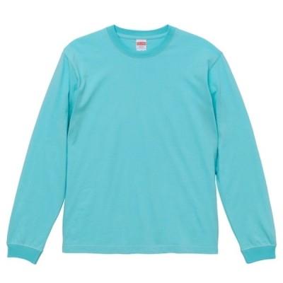 Tシャツ 長袖 メンズ ハイクオリティー リブ付 5.6oz M サイズ パステルエメラルド 無地 ユナイテッドアスレ CAB