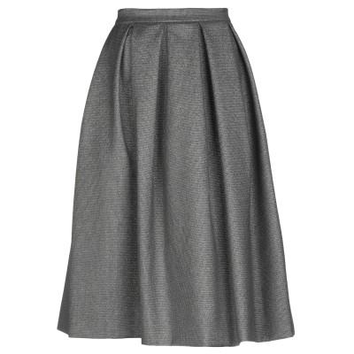 ALTEЯƎGO 7分丈スカート 鉛色 38 ポリエステル 64% / レーヨン 33% / ポリウレタン 2% / メタリック繊維 1% 7分丈ス