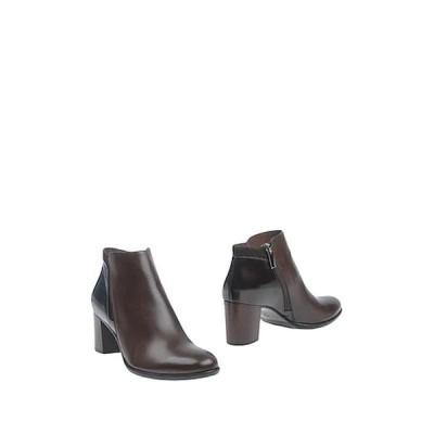 CALPIERRE ショートブーツ ファッション  レディースファッション  レディースシューズ  ブーツ  その他ブーツ ダークブラウン