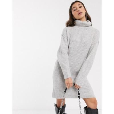 エイソス レディース ワンピース トップス ASOS DESIGN chunky mini dress with roll neck