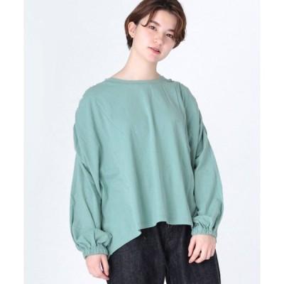 tシャツ Tシャツ M1228 ショルダーギャザープルオーバー