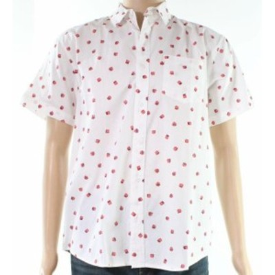 Nordstrom ノードストローム ファッション アウター The Rail NORDSTROM NEW White Mens Size Medium M Dice Button Down Shirt
