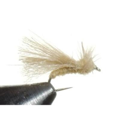 ドライフライ バーブレス CDC カディス アダルト タン (18 20 22) 完成品フライ フライ フィッシング 毛鉤 釣り  ヤマメ イワナ アマゴ