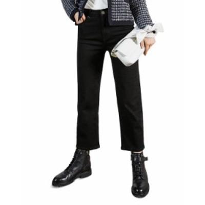 テッドベーカー レディース デニムパンツ ボトムス Straight Leg Cropped Jeans in Black Black