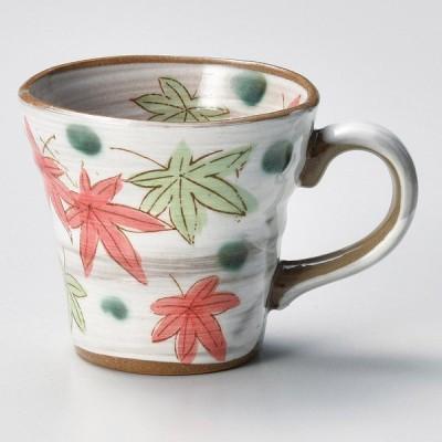 業務用食器 紅葉緑マグカップ φ9.5×8.4cm(260�)