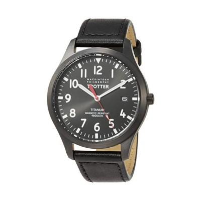 [セイコーウォッチ] 腕時計 マッキントッシュフィロソフィー TROTTERシリーズ チタンモデル ブラック文字盤 ブラックカーフバンド FCZK98