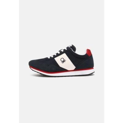 ベネトン メンズ 靴 シューズ SHELL - Trainers - navy/red
