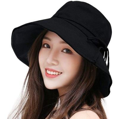 uvカット 帽子 レディース ハット 日よけ帽子 紫外線対策 日焼け防止 熱中症予防 取り外すあご紐 サイズ調節可 つば広