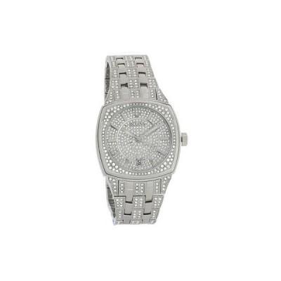 腕時計 Bulova Phantom Mens Stainless Steel Crystal Quartz Watch 96B296