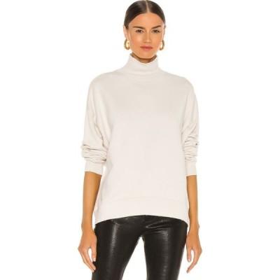 フレーム FRAME レディース スウェット・トレーナー トップス Funnel Neck Sweatshirt Vintage Winter White