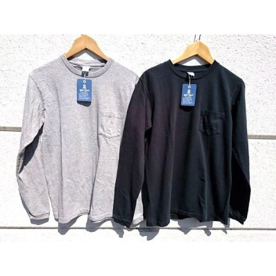 VELVASHEEN  TUBULER L/S TEE W/PKT (160928)/ベルバシーン 長袖tシャツ(黒・グレー)