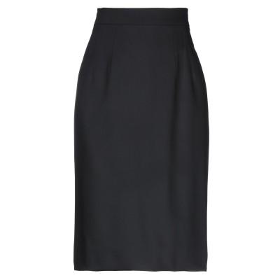 ドルチェ & ガッバーナ DOLCE & GABBANA ひざ丈スカート ブラック 42 バージンウール 98% / ポリウレタン 2% ひざ丈スカ