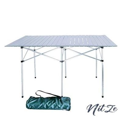 雑貨の国のアリス ロールテーブル 折り畳み式 アルミ製 ロール式天板 収納袋付き (ad133(140cm*70cm*70cm)) [並行輸
