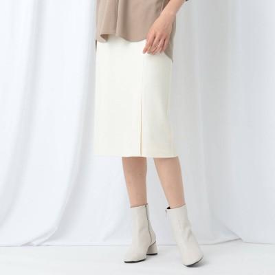 インディヴィ INDIVI 【WEB限定】ウールジャージ タイトスカート (ホワイト)