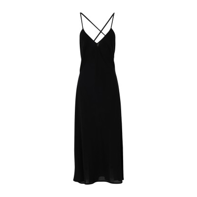 SSHEENA ロングワンピース&ドレス ブラック 42 ポリエステル 100% ロングワンピース&ドレス