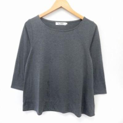 【中古】ドレステリア DRESSTERIOR カットソー Tシャツ 七分袖 無地 シンプル ボートネック L グレー
