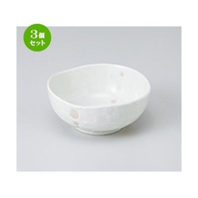 3個セット 小鉢 和食器 / 白ドット3角4.0鉢 寸法:12.5 x 12.5 x 5.5cm