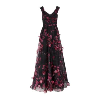 マルケッサ・ノッテ MARCHESA NOTTE ロングワンピース&ドレス ブラック 8 ポリエステル 100% ロングワンピース&ドレス