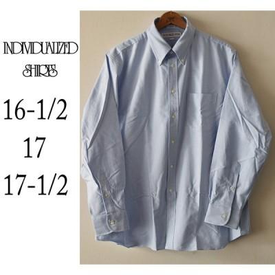 【16-1/2,  17,  17-1/2】INDIVIDUALIZED SHIRT インディヴィデュアライズドシャツ   シャンブレーシャツ ブルー