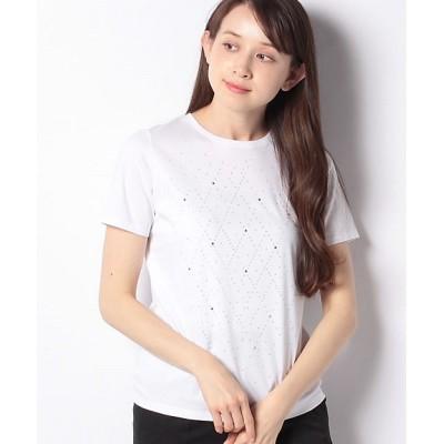 <LA JOCONDE(Women)/ラ ジョコンダ>【洗える】スーピマスムースラメTシャツ ギンイロ【三越伊勢丹/公式】