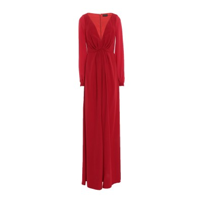 CONTESSA ロングワンピース&ドレス レッド 40 PES - ポリエーテルサルフォン 100% / シルク ロングワンピース&ドレス