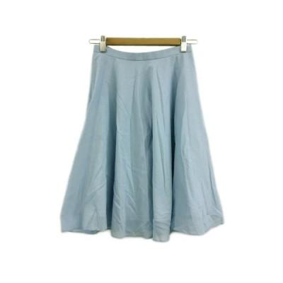 【中古】ボールジー BALLSEY トゥモローランド スカート フレア 膝丈 34 水色 ライトブルー レディース 【ベクトル 古着】