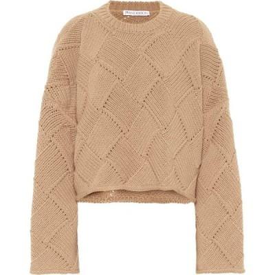 J.W.アンダーソン JW Anderson レディース ニット・セーター トップス merino wool-blend cropped sweater Tan