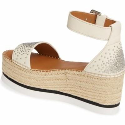 クロエ SEE BY CHLOE レディース エスパドリーユ サンダル・ミュール シューズ・靴 Gyn Platform Espadrille Sandal White