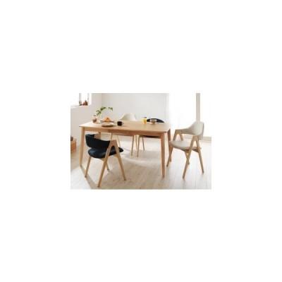 ダイニングテーブルセット 4人用 天然木タモ無垢材ダイニング 5点セット テーブル+チェア4脚 ハイタイプ ロータイプミックス W150 0406004427