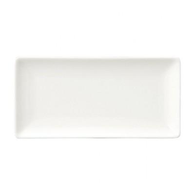 ニューボンエステート 24cm長角皿 白い器 洋食器 長角プレート(M) 業務用 約24cm