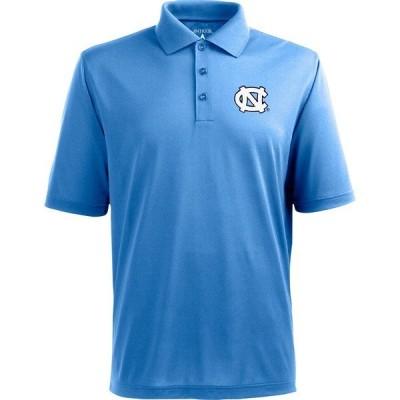 アンティグア ポロシャツ トップス メンズ Antigua Men's University of North Carolina Pique Xtra-Lite Polo Shirt Columbia Blue