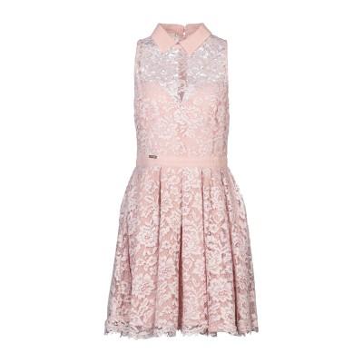W LES FEMMES by BABYLON ミニワンピース&ドレス ローズピンク 46 ナイロン 100% ミニワンピース&ドレス