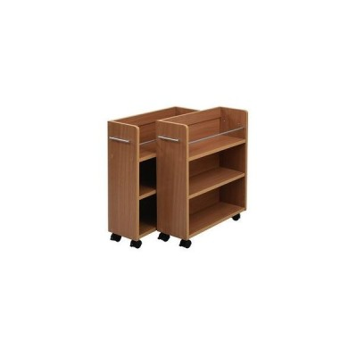 クローゼット 収納 ラック 本棚 2個セット 幅19 奥行58 キャスター付き ワゴン 整理 隙間 家具 押入れ 収納 リビング[18]
